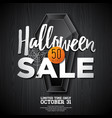 hallowen sale with coffin and holiday elements on vector image vector image