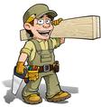 Handyman Carpenter Khaki vector image vector image