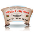 happy new year and merry christmas on parchment vector image vector image