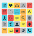 human icons set collection of talking goal vector image vector image