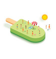 ice cream for summer vacation concept with people vector image vector image