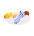 icon gun vector image