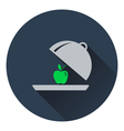 Icon of Apple inside cloche vector image vector image