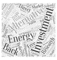 Investment into Alternative Energy Research and vector image vector image