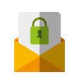 letter padlock drawn vector image
