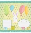 Little white bunny Birthday gift vector image vector image