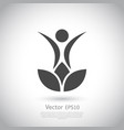 lotus flower yoga logo design vector image