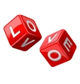 Love dice vector image
