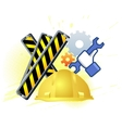 Maintenance mode icon with hand wrench Like work vector image vector image