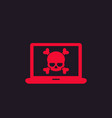 malware spam online scam computer virus icon vector image