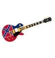mississippi flag guitar vector image vector image