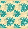 monstera tropical jungle seamless pattern vector image vector image