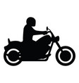 motorcycle rider side view silhouette vector image