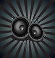 Music speaker background vector image vector image
