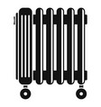 oil radiator icon simple style vector image vector image