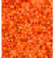 Orange abstract regular triangle mosaic background vector image vector image