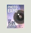 photo exposition poster date vector image