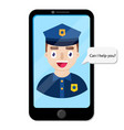 police officers talking with client vector image vector image