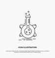 research laboratory flask tube development icon vector image vector image