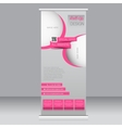 Roll up banner stand template Abstract background vector image vector image