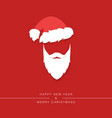 santa claus beard with mustache and hat vector image vector image