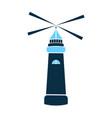 sea lighthouse icon marine navigation vector image
