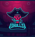 skull e-sport mascot vector image