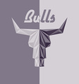Skull of bull abstract logo grey triangles with vector image vector image
