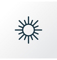 sun outline symbol premium quality isolated sunny vector image vector image