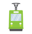 tram flat icon transport and railway train sign vector image