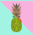 trendy pineapple vector image