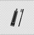 tube of toothpaste and toothbrush icon isolated vector image