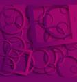 vibrant purple paper cut background vector image