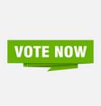 vote now vector image vector image