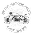 white caferacer logo retro motorcycle vector image