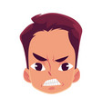 young man face angry facial expression vector image