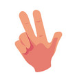 caucasian human hand showing v for victory sign vector image