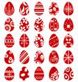 Easter egg symbol set vector image