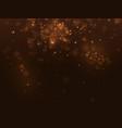 golden abstract luxury bokeh background light vector image