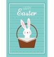 Easter bunny with Easter basket full of Easter vector image