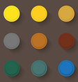 Empty buttons vector image