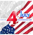 polygonal usa flag 4th of july independence day vector image