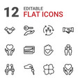 12 hands icons vector image vector image
