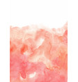 abstract pink peach watercolor background vector image vector image