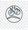 angry concept linear icon isolated on transparent vector image