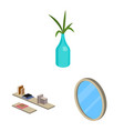bedroom and room symbol vector image vector image