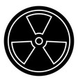biohazard - dangerous radiation icon vector image