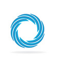 blue spiral wave abstract vector image vector image