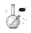bong for cannabis drawing marijuana vector image vector image