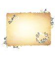 burnt paper with forget me not flowers vector image vector image